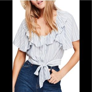 NWT Free People ivory the rosemary shirt